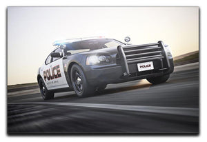 American Police Car Canvas Print or Poster  - Canvas Art Rocks - 1