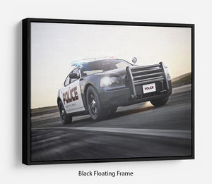 American Police Car Floating Frame Canvas