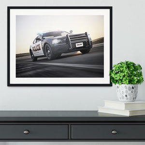 American Police Car Framed Print - Canvas Art Rocks - 1