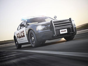 American Police Car Wall Mural Wallpaper - Canvas Art Rocks - 1
