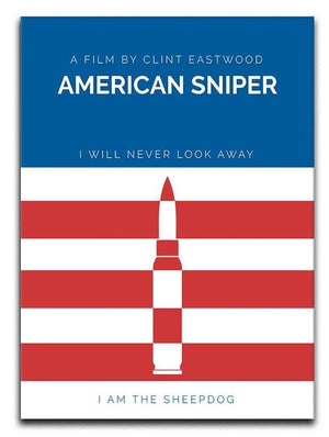American Sniper Minimal Movie Canvas Print or Poster  - Canvas Art Rocks - 1