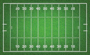 American football field with grass Wall Mural Wallpaper - Canvas Art Rocks - 1