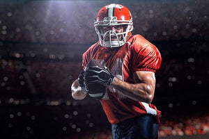 American football sportsman Wall Mural Wallpaper - Canvas Art Rocks - 1