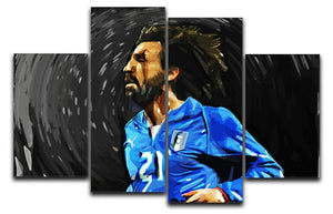 Andrea Pirlo 4 Split Panel Canvas  - Canvas Art Rocks - 1