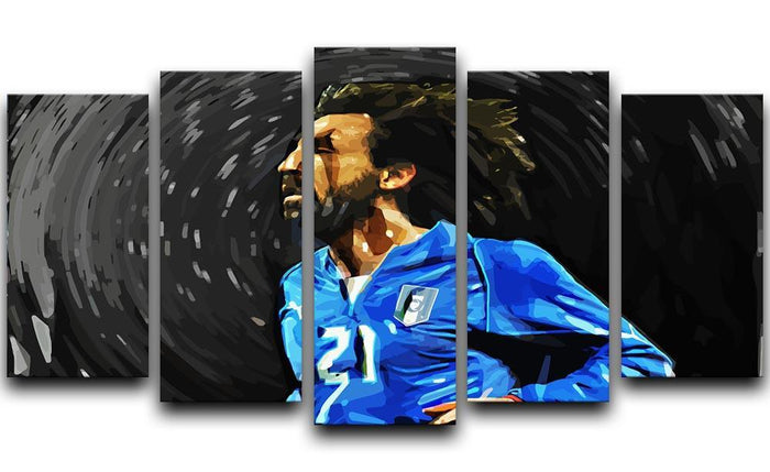 Andrea Pirlo 5 Split Panel Canvas