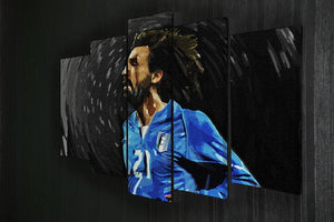 Andrea Pirlo 5 Split Panel Canvas - Canvas Art Rocks - 2