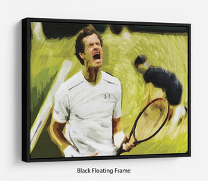Andy Murray Wimbledon Floating Frame Canvas