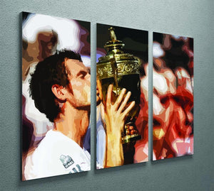 Andy Murray Wimbledon Winner 3 Split Panel Canvas Print - Canvas Art Rocks - 2