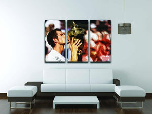 Andy Murray Wimbledon Winner 3 Split Panel Canvas Print - Canvas Art Rocks - 3