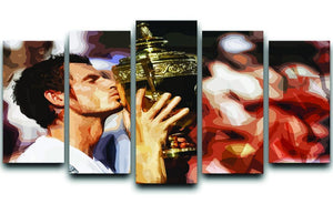 Andy Murray Wimbledon Winner 5 Split Panel Canvas  - Canvas Art Rocks - 1
