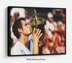 Andy Murray Wimbledon Winner Floating Frame Canvas