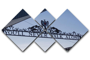Anfield Gates 4 Square Multi Panel Canvas  - Canvas Art Rocks - 1