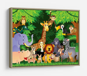 Animal cartoon HD Metal Print