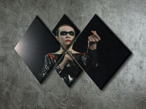 Annie Lennox in concert 4 Square Multi Panel Canvas - Canvas Art Rocks - 2