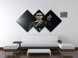 Annie Lennox in concert 4 Square Multi Panel Canvas - Canvas Art Rocks - 3