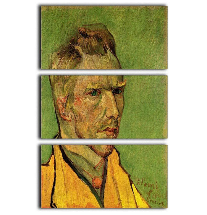 Another Self-Portrait by Van Gogh 3 Split Panel Canvas Print