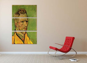 Another Self-Portrait by Van Gogh 3 Split Panel Canvas Print - Canvas Art Rocks - 2