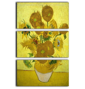 Another vase of sunflowers 3 Split Panel Canvas Print - Canvas Art Rocks - 1