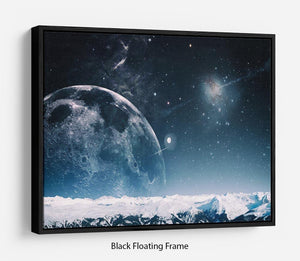 Another world landscape Floating Frame Canvas