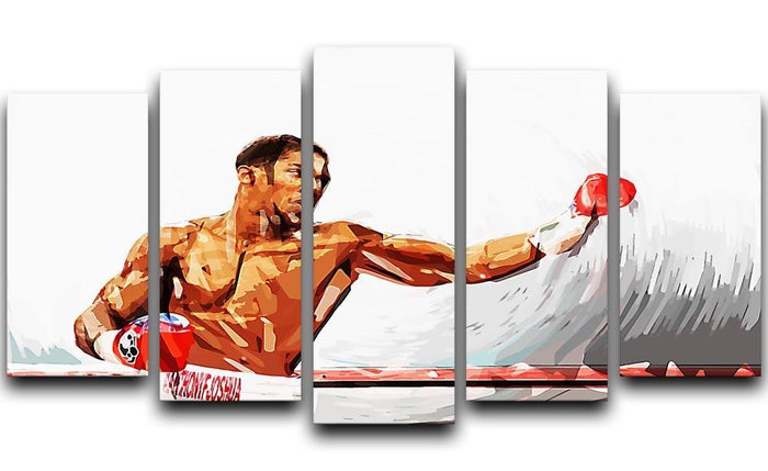 Anthony Joshua 5 Split Panel Canvas