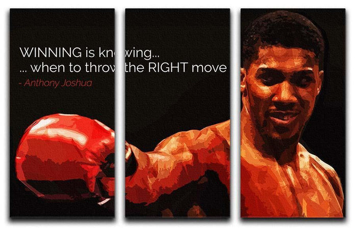Anthony Joshua Winning Is Knowing 3 Split Panel Canvas Print