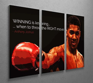 Anthony Joshua Winning Is Knowing 3 Split Panel Canvas Print - Canvas Art Rocks - 2
