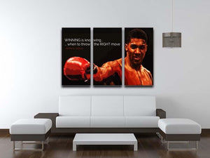 Anthony Joshua Winning Is Knowing 3 Split Panel Canvas Print - Canvas Art Rocks - 3