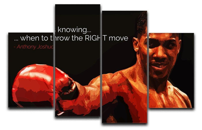 Anthony Joshua Winning Is Knowing 4 Split Panel Canvas