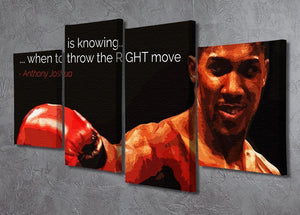 Anthony Joshua Winning Is Knowing 4 Split Panel Canvas - Canvas Art Rocks - 2