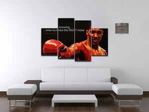 Anthony Joshua Winning Is Knowing 4 Split Panel Canvas - Canvas Art Rocks - 3