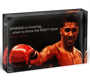 Anthony Joshua Winning Is Knowing Acrylic Block - Canvas Art Rocks - 1