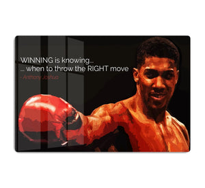 Anthony Joshua Winning Is Knowing HD Metal Print