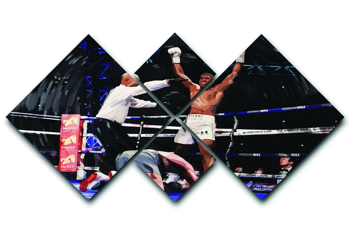 Anthony Joshua vs Klitschko 4 Square Multi Panel Canvas