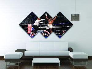 Anthony Joshua vs Klitschko 4 Square Multi Panel Canvas - Canvas Art Rocks - 3