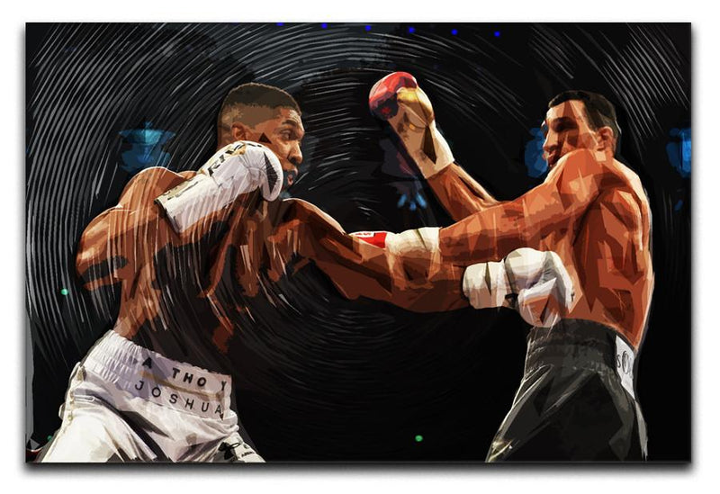 Anthony Joshua vs Klitschko Punch Canvas Print & Poster - Canvas Art Rocks