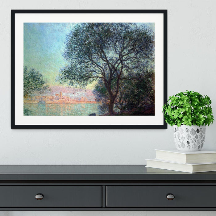 Antibes seen from La Salis by Monet Framed Print