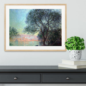 Antibes seen from La Salis by Monet Framed Print - Canvas Art Rocks - 3