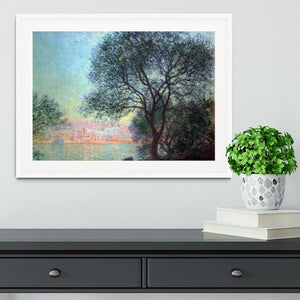 Antibes seen from La Salis by Monet Framed Print - Canvas Art Rocks - 5