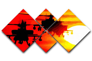 Apocalypse Now 4 Square Multi Panel Canvas  - Canvas Art Rocks - 1