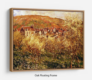 Apple Trees In Blossom by Monet Floating Frame Canvas