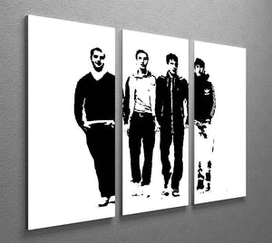 Arctic Monkeys 3 Split Panel Canvas Print - Canvas Art Rocks - 2