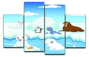 Arctics animals 4 Split Panel Canvas  - Canvas Art Rocks - 1