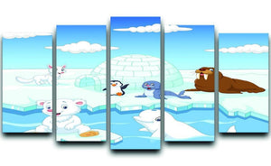 Arctics animals 5 Split Panel Canvas  - Canvas Art Rocks - 1