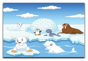 Arctics animals Canvas Print or Poster  - Canvas Art Rocks - 1