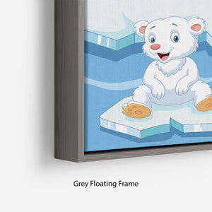 Arctics animals Floating Frame Canvas