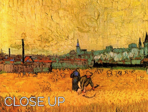 Arles View from the Wheat Fields by Van Gogh 3 Split Panel Canvas Print - Canvas Art Rocks - 3