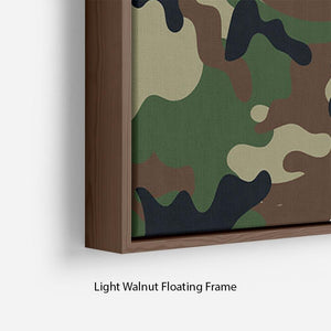 Army military camouflage Floating Frame Canvas