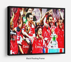 Arsenal FA Cup Floating Frame Canvas