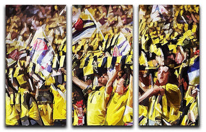 Arsenal Fans 3 Split Panel Canvas Print - Canvas Art Rocks - 1
