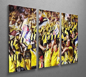 Arsenal Fans 3 Split Panel Canvas Print - Canvas Art Rocks - 2